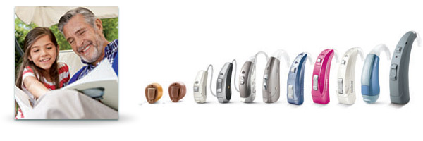 hearing aids in variety of sizes